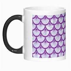 Scales3 White Marble & Purple Denim (r) Morph Mugs