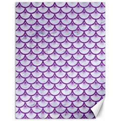 Scales3 White Marble & Purple Denim (r) Canvas 12  X 16