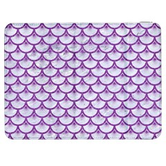 Scales3 White Marble & Purple Denim (r) Samsung Galaxy Tab 7  P1000 Flip Case