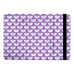 Scales3 White Marble & Purple Denim (r) Samsung Galaxy Tab Pro 10 1  Flip Case