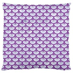Scales3 White Marble & Purple Denim (r) Standard Flano Cushion Case (two Sides)