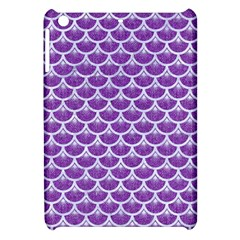 Scales3 White Marble & Purple Denim Apple Ipad Mini Hardshell Case