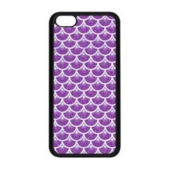 Scales3 White Marble & Purple Denim Apple Iphone 5c Seamless Case (black)