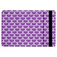 Scales3 White Marble & Purple Denim Ipad Air Flip