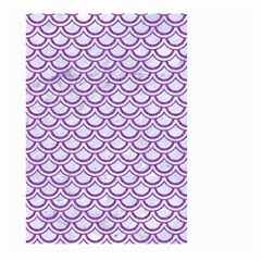 Scales2 White Marble & Purple Denim (r) Large Garden Flag (two Sides)