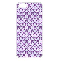 Scales2 White Marble & Purple Denim (r) Apple Iphone 5 Seamless Case (white)
