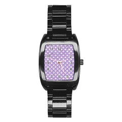 Scales2 White Marble & Purple Denim (r) Stainless Steel Barrel Watch