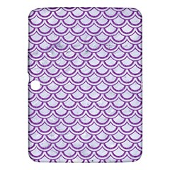 Scales2 White Marble & Purple Denim (r) Samsung Galaxy Tab 3 (10 1 ) P5200 Hardshell Case