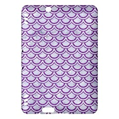 Scales2 White Marble & Purple Denim (r) Kindle Fire Hdx Hardshell Case