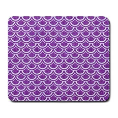 Scales2 White Marble & Purple Denim Large Mousepads
