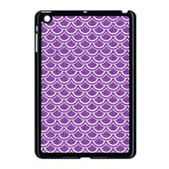 Scales2 White Marble & Purple Denim Apple Ipad Mini Case (black)