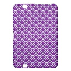 Scales2 White Marble & Purple Denim Kindle Fire Hd 8 9