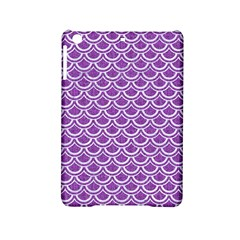 Scales2 White Marble & Purple Denim Ipad Mini 2 Hardshell Cases