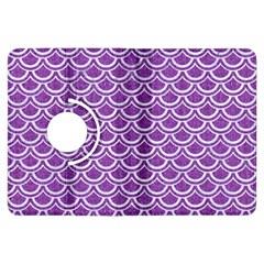 Scales2 White Marble & Purple Denim Kindle Fire Hdx Flip 360 Case