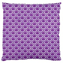 Scales2 White Marble & Purple Denim Standard Flano Cushion Case (two Sides)