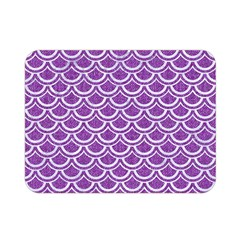 Scales2 White Marble & Purple Denim Double Sided Flano Blanket (mini)
