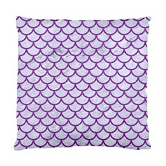Scales1 White Marble & Purple Denim (r) Standard Cushion Case (two Sides)