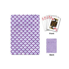 Scales1 White Marble & Purple Denim (r) Playing Cards (mini)