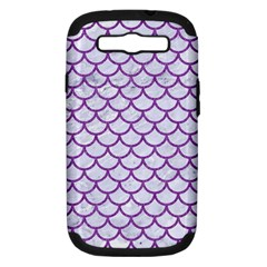 Scales1 White Marble & Purple Denim (r) Samsung Galaxy S Iii Hardshell Case (pc+silicone)