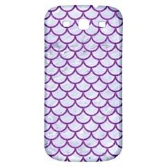 Scales1 White Marble & Purple Denim (r) Samsung Galaxy S3 S Iii Classic Hardshell Back Case