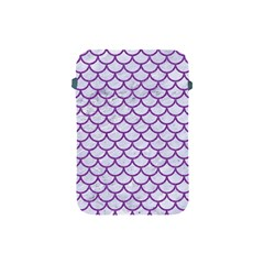 Scales1 White Marble & Purple Denim (r) Apple Ipad Mini Protective Soft Cases