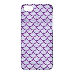 Scales1 White Marble & Purple Denim (r) Apple Iphone 5c Hardshell Case