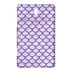 Scales1 White Marble & Purple Denim (r) Samsung Galaxy Tab S (8 4 ) Hardshell Case