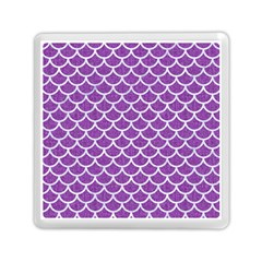 Scales1 White Marble & Purple Denim Memory Card Reader (square)