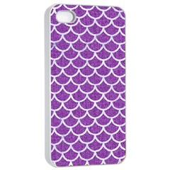 Scales1 White Marble & Purple Denim Apple Iphone 4/4s Seamless Case (white)