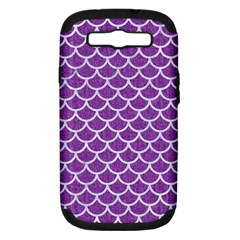 Scales1 White Marble & Purple Denim Samsung Galaxy S Iii Hardshell Case (pc+silicone)