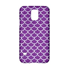 Scales1 White Marble & Purple Denim Samsung Galaxy S5 Hardshell Case