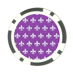 Royal1 White Marble & Purple Denim (r) Poker Chip Card Guard (10 Pack)