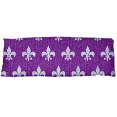 Royal1 White Marble & Purple Denim (r) Body Pillow Case (dakimakura)