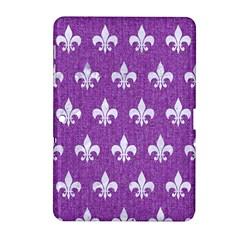 Royal1 White Marble & Purple Denim (r) Samsung Galaxy Tab 2 (10 1 ) P5100 Hardshell Case