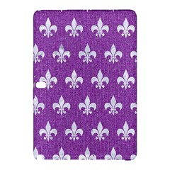Royal1 White Marble & Purple Denim (r) Samsung Galaxy Tab Pro 12 2 Hardshell Case