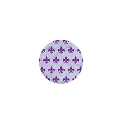Royal1 White Marble & Purple Denim 1  Mini Buttons by trendistuff