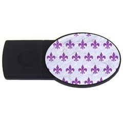 Royal1 White Marble & Purple Denim Usb Flash Drive Oval (4 Gb)