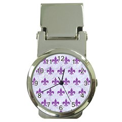 Royal1 White Marble & Purple Denim Money Clip Watches