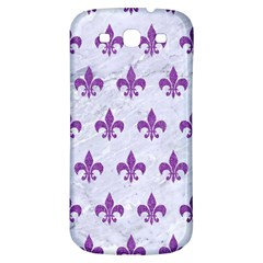 Royal1 White Marble & Purple Denim Samsung Galaxy S3 S Iii Classic Hardshell Back Case