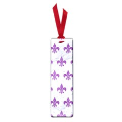 Royal1 White Marble & Purple Denim Small Book Marks
