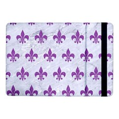 Royal1 White Marble & Purple Denim Samsung Galaxy Tab Pro 10 1  Flip Case