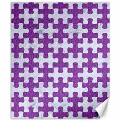 Puzzle1 White Marble & Purple Denim Canvas 20  X 24