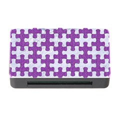 Puzzle1 White Marble & Purple Denim Memory Card Reader With Cf