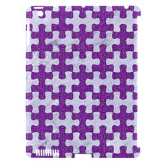 Puzzle1 White Marble & Purple Denim Apple Ipad 3/4 Hardshell Case (compatible With Smart Cover)