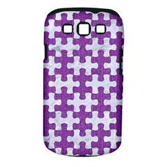 Puzzle1 White Marble & Purple Denim Samsung Galaxy S Iii Classic Hardshell Case (pc+silicone)