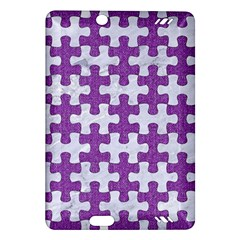 Puzzle1 White Marble & Purple Denim Amazon Kindle Fire Hd (2013) Hardshell Case