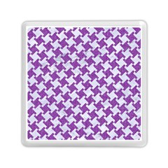 Houndstooth2 White Marble & Purple Denim Memory Card Reader (square)