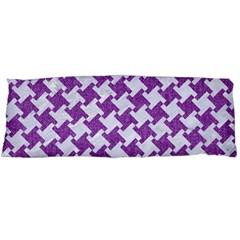 Houndstooth2 White Marble & Purple Denim Body Pillow Case (dakimakura)