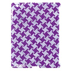 Houndstooth2 White Marble & Purple Denim Apple Ipad 3/4 Hardshell Case (compatible With Smart Cover)