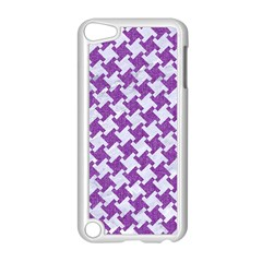 Houndstooth2 White Marble & Purple Denim Apple Ipod Touch 5 Case (white)